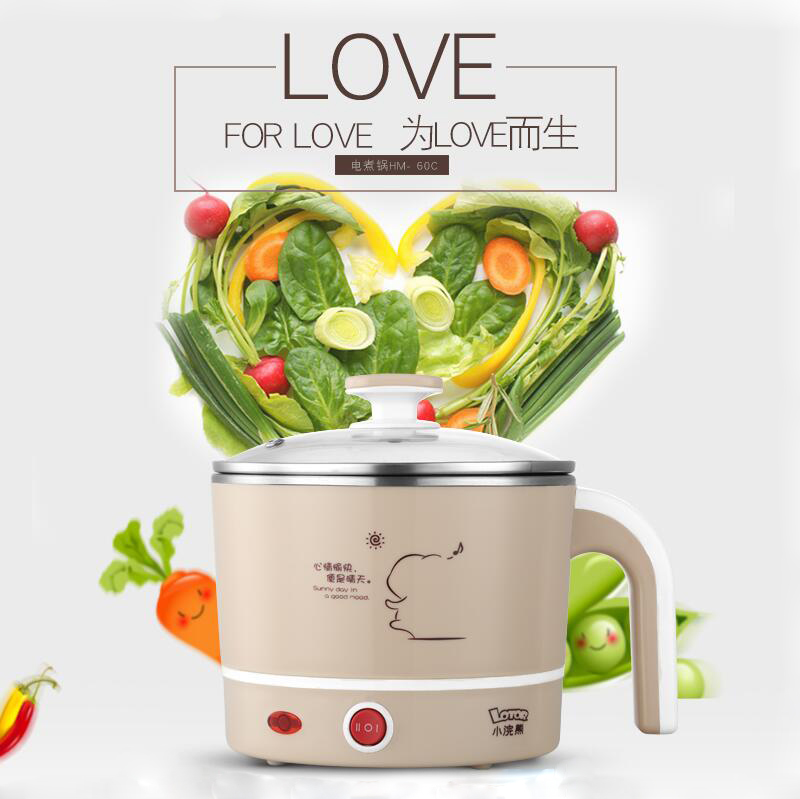 Raccoon Multifunction Electric Cooker Cook Noodles  Student Dorm Room Home Mini Small Pot Small Electric Pot dmwd 110v multifunction electric skillet stainless steel hot pot noodles rice cooker steamed egg soup pot mini heating pan