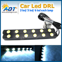Free Shipping DC12V 950lm High Power Xenon White 12W Auto Led Daytime Running Light With Turn
