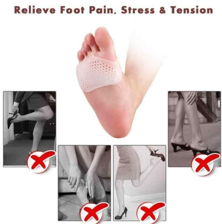 רך סיליקון ג 'ל טיפול רגליים עקב גבוהה הלם קליטה אנטי להחליק עמיד כף הרגל רגל כרית קדמת כף הרגל כרית רגליים כאב
