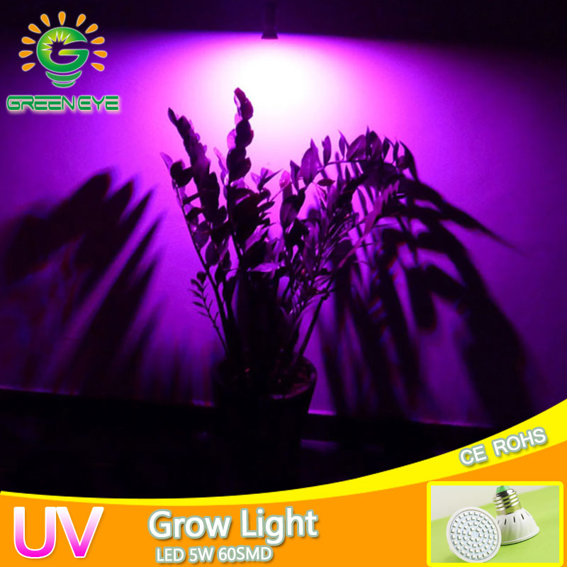 Full Spectrum 220V 5W E27 UV LED Grow Light AC 185V~240V LED Grow Bulb Lamp for Flower Plant Hydroponics IR Red Blue Purple lan mu led grow light e14 e27 mr16 gu10 full spectrum led bulb plant lamp red blue uv ir for grow tent greenhouse grow lighting