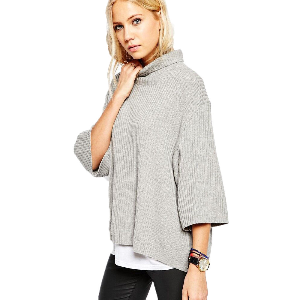 Women's Cashmere Sweater - Long Sleeve / Loose Fitting