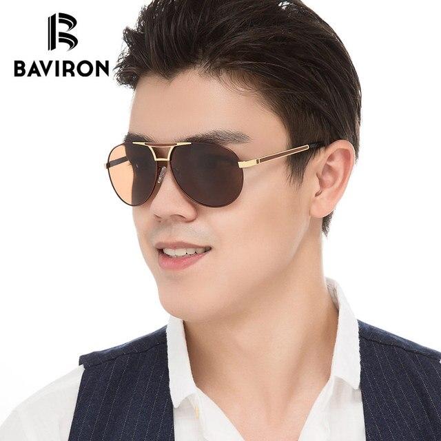 c0c2966e8a1 BAVIRON Brand Designer Pilot Sunglasses For Men Polarized Blue Film Inside  Driving Glasses 2018 New Cool Street Style Glasses