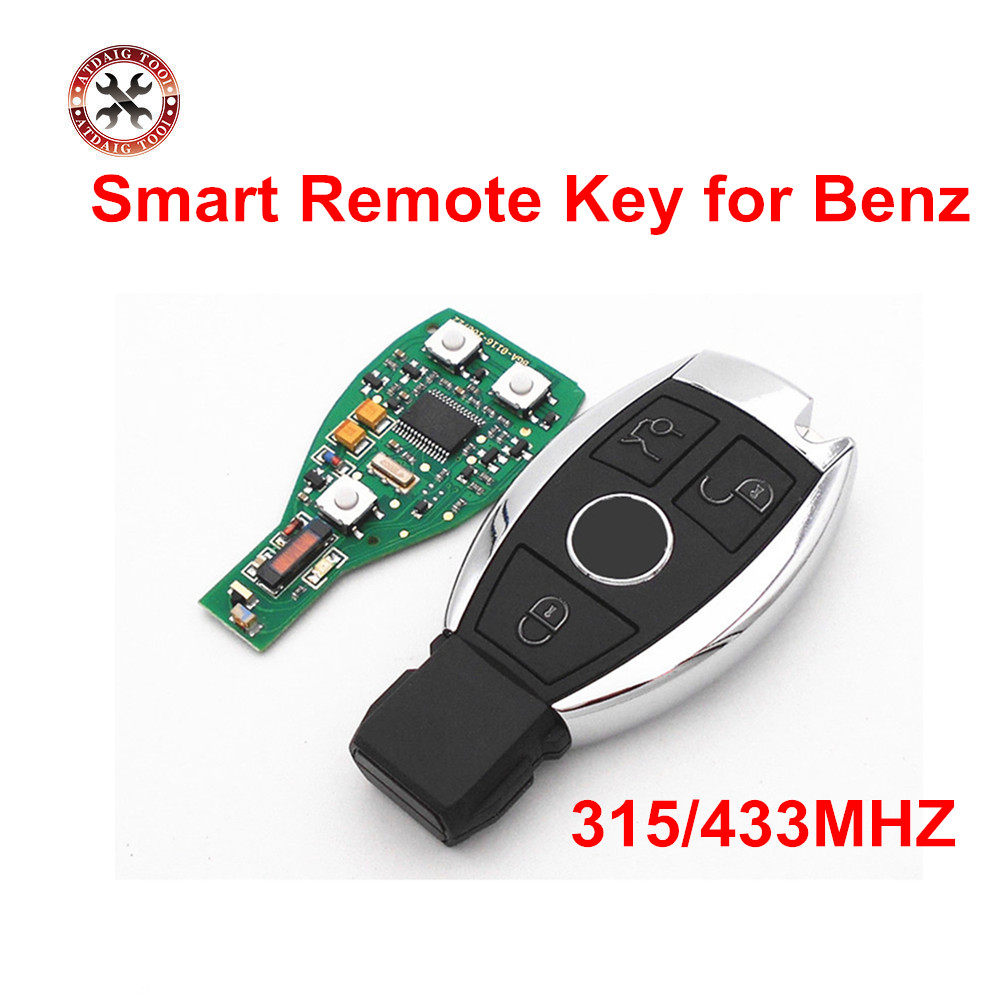 3 buttons car smart remote key for mercedes benz year 2000 nec bga style auto remote