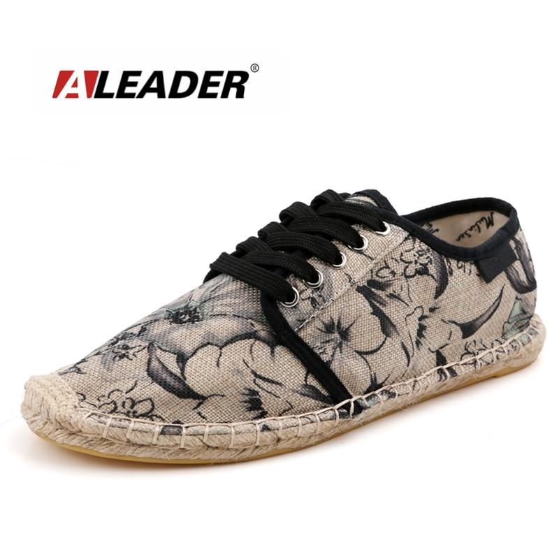 Aleader 2016 Verano Transpirable Zapatos de Lona Alpargatas Para Hombre Casual Slip On Zapatos de Los