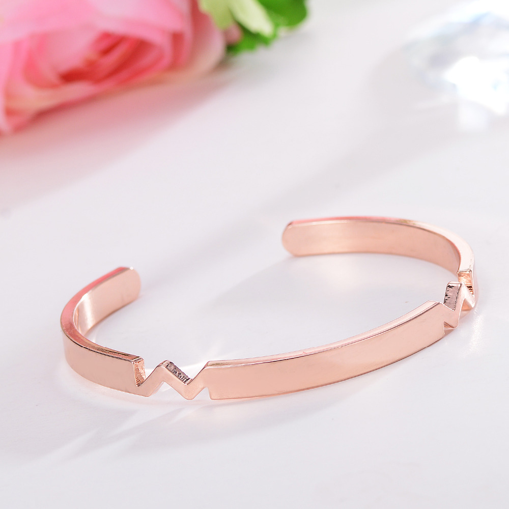 Luxury Stainless Steel Bangle & Bracelet Jewerly For Women Fashion Charm Trendy Jewelry Rose Gold Party Gift