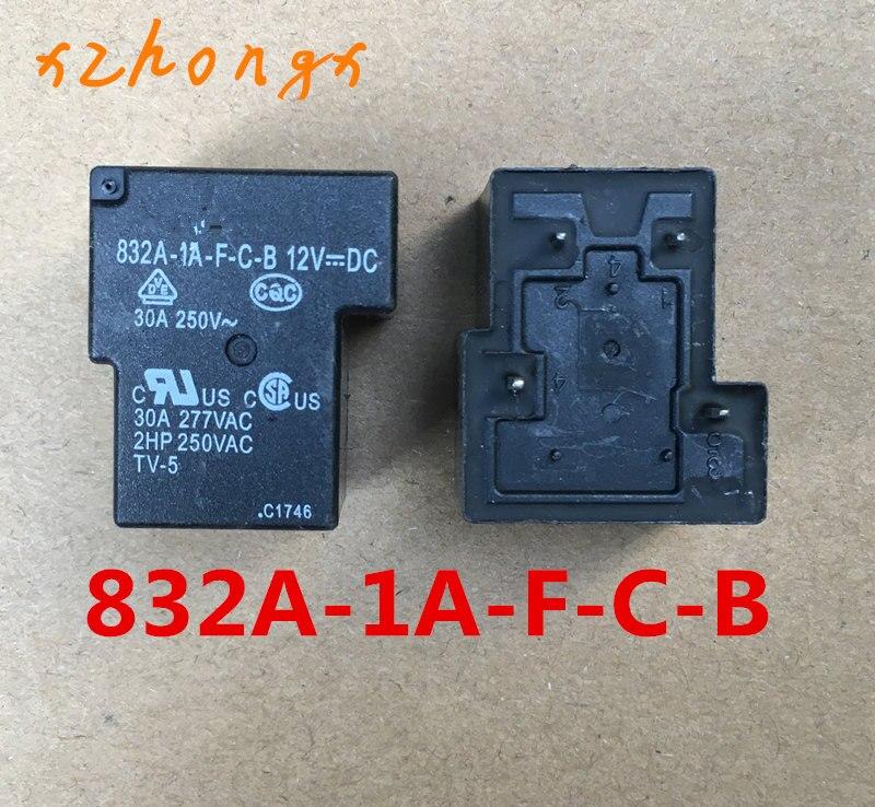 SONGCHUAN 832A-1A-F-C-B-12VDC 832A-1A-F-C-B-12V 832A-1A-F-C-B-DC12V 4PINS 30A 12VDC Power Relay Original New