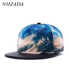 Brands NUZADA 3D Color Printing Pattern Men Women Sports Hat Hats Baseball Cap Fashion trends Hip Hop Snapback Caps bone jt-001