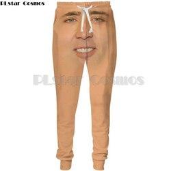 Брюки PLstar Cosmos 2018, мужские/женские повседневные штаны, Длинные спортивные штаны с принтом лица Николя, 5XL