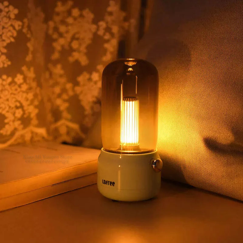 Image 2 - New Xiaomi Mijia Lofree CANDLY Retro Light USB Charging/Charging  Stand Two Light Modes Warm As Ever Warm Surrounding FeelingSmart Remote  Control
