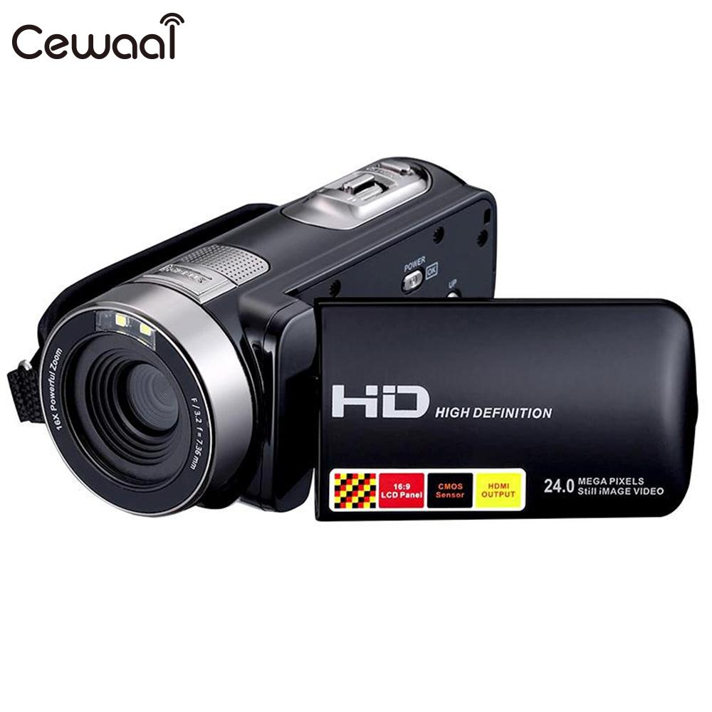 Cewaal Cewaal Full HD 1080P 24MP Night Vision IR Digital Camera Video Recorder Camcorder DV DVR 3.0'' LCD 16x Zoom Cam EU plug