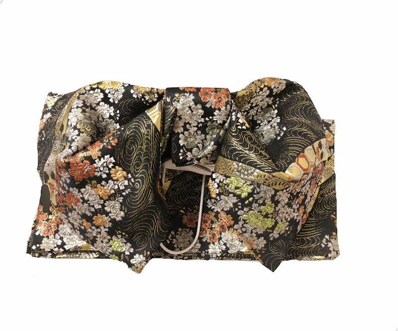 Haute qualité imprimé japonais robe formelle ceinture Kimono Yukata accessoire Obi 5 Styles Floral arc Obis femmes adultes Cosplay accessoires - 4