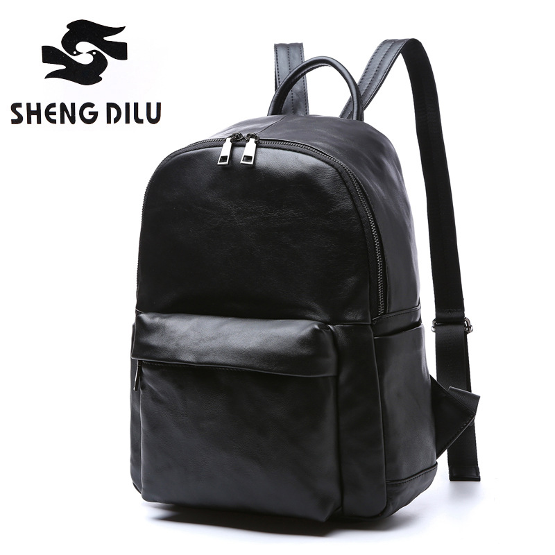 Vintage Genuine Leather Brand Bag top-handle Men Bags male Shoulder Back Bags Real Leather Backpack men's Backpacks High Quality famous brand luxury men backpack genuine leather vintage mochila black men sport double shoulder bag men s backpacks bp00042