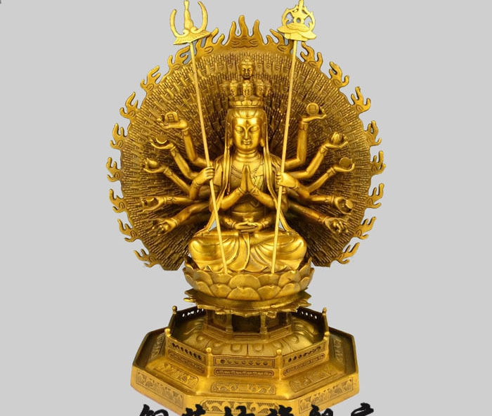 zm 10'' China Tibet Thousand Hands Kwan yin Avalokitesvara
