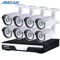 HD 3MP 8CH 1920p CCTV Camera DVR AHD Outdoor Security Camera System Kit P2P Surveillance Motion detection Infrared Night Vision