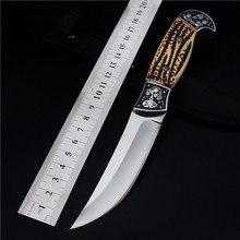 New Rushed Navajas Outdoor Self-defense Field High Hardness Saber Wilderness Survival Fruit Knife Small Straight Folding Whales