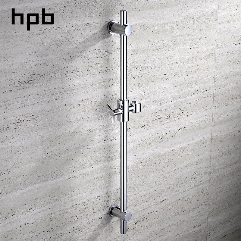 HPB Brass Chrome Polished Shower Slide Bars Shower Head Lifting Wall Mounted Bathroom Accessories Pipe Connector HP7501
