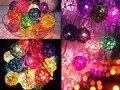 20 Sepak Takraw Bola Rattan Luzes de Tira Luzes De Natal Do Casamento Do Feriado de Ano Novo Decoração De Natal Guirlanda Nightlight flasher