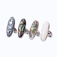 Female Ring New Design Trendy Rose Gold Rings Elegant High Quality Natural Abalone Shell Ring For Women Fun Gifts Party  Rings