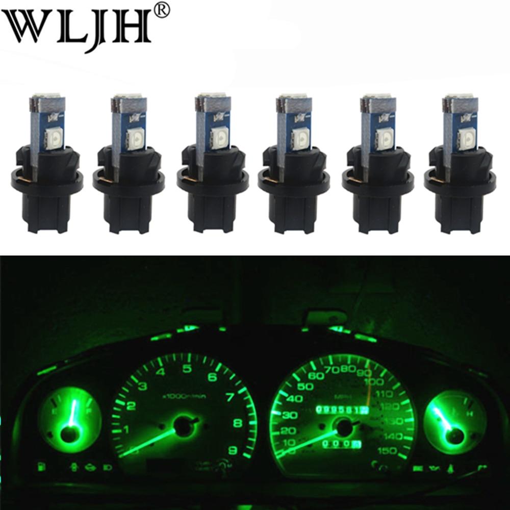 lampada de led wljh 6x t5 iluminacao para substituicao de carro painel de controle luz de