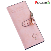 FGJLLOGJGSO Brand Women long Grind arenaceous wallet Cute metal little umbrella Soft leather female Clutch Card Holder Purses