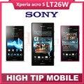 Abierto original sony xperia acro s lt26w móvil phone16gb dual-core android 3g gsm wifi gps 12mp dropshipping reformado
