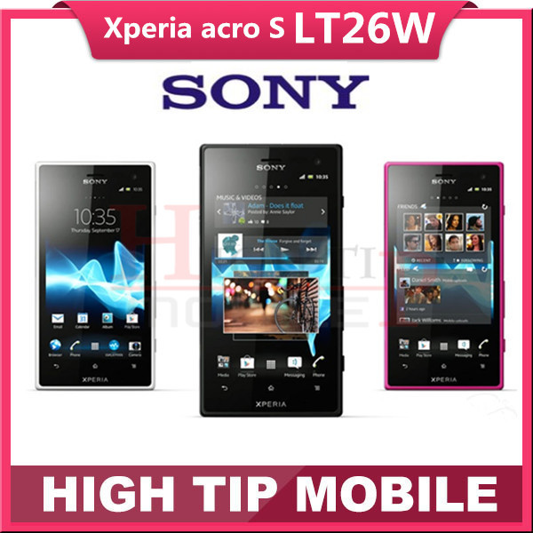 Original unlocked Sony Xperia acro S LT26w mobile phone16GB Dual core Android 3G GSM WIFI GPS