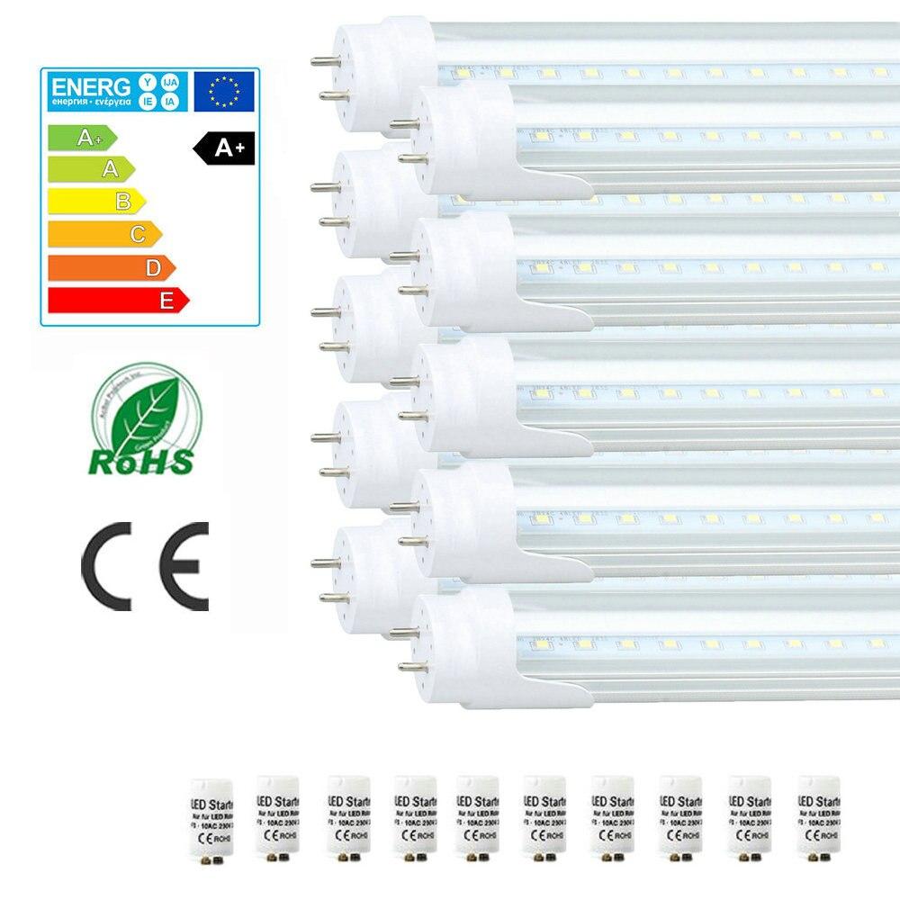 10X Maidodo T8 G13 60-150cm 2-5FT 9W 13W 18W 24W 810-2160LM Leds SMD 6000-6500K LED Tubes Bulbs Fluorescent W Transparent Cover