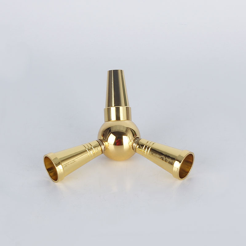 US $4 84 49% OFF|1pc Large Shisha Hookah Hose Adapter 1 To 2 Splitter Hose  Connector Bypass Valve Golden Shisha Hookah Accessories Smoke-in Shisha