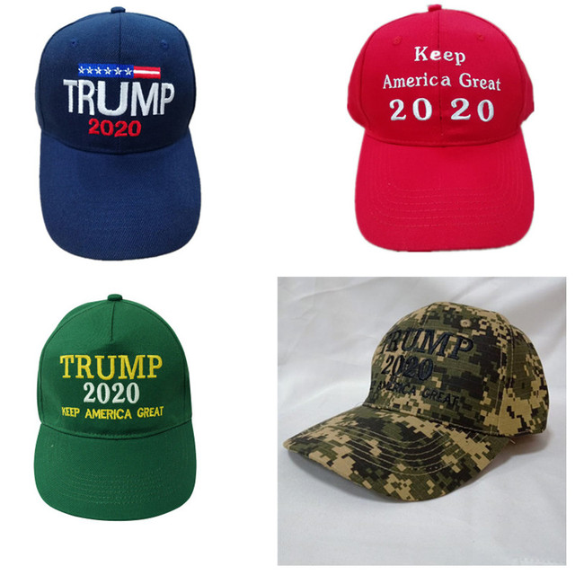 3f1ce3ae7 US $2.38 46% OFF|2020 Donald Trump Hat Re Election Keep America Great  Embroidery USA Flag MAGA Cap Cotton Baseball Hat -in Baseball Caps from  Apparel ...