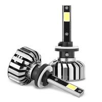 2X Car LED Headlight 12V 24V 80W 8000LM 6000K Light Auto Headlamp Bulb KitH1 H3 H4