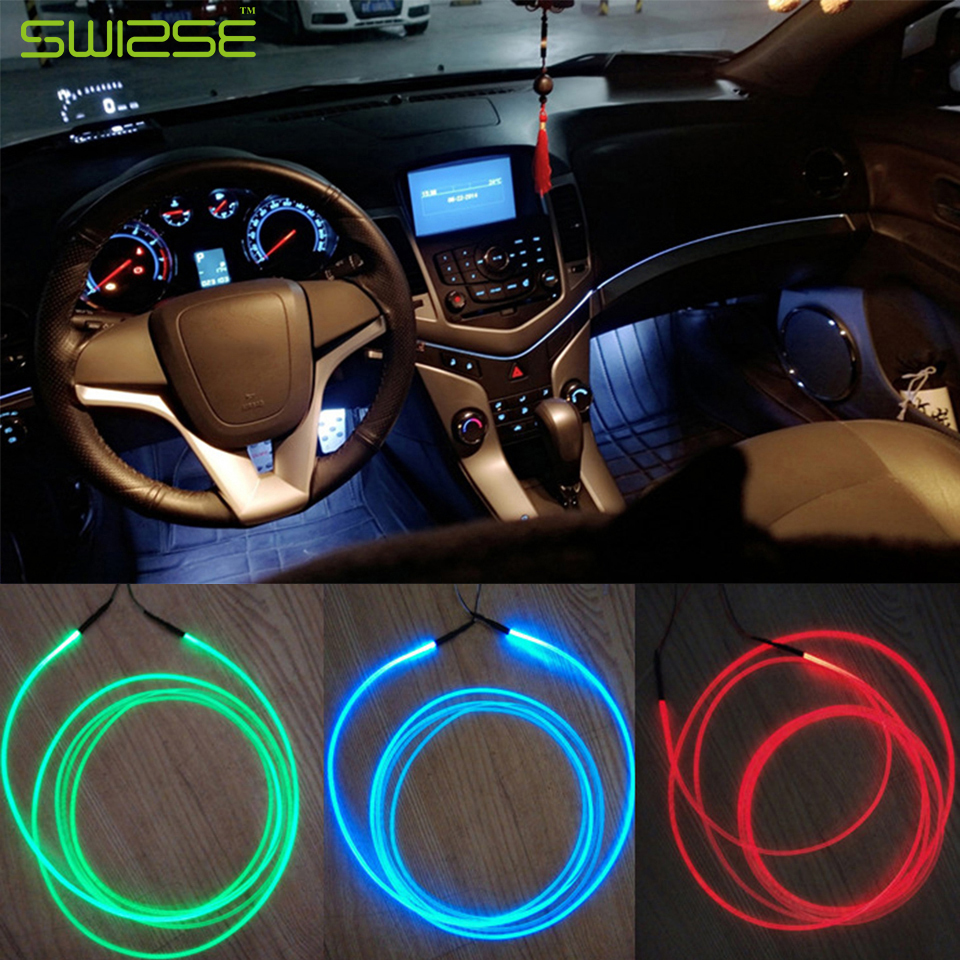 5 pcs lot car ambient light vehicle light guide interior. Black Bedroom Furniture Sets. Home Design Ideas