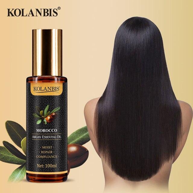 Natural Pure Moroccan Argan Hair Essential Oil Leave In Conditioner For Split Ends Long Hair Treatment Organic Argan Oil Serum 2