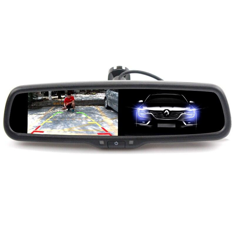 Авто затемнение 4,3 TFT lcd HD 800*480 специальный кронштейн автомобильная парковка заднего вида зеркало монитор для Toyota Kia hyundai Nissan - 2