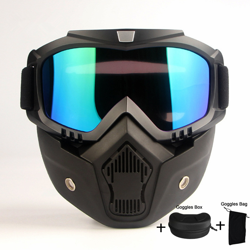 2018 Hot Sale Modular Mask Detachable Goggles Mouth Filter Ski Glass Men Women Windproof Snow Glasses Snowboard Skiing Eyewear