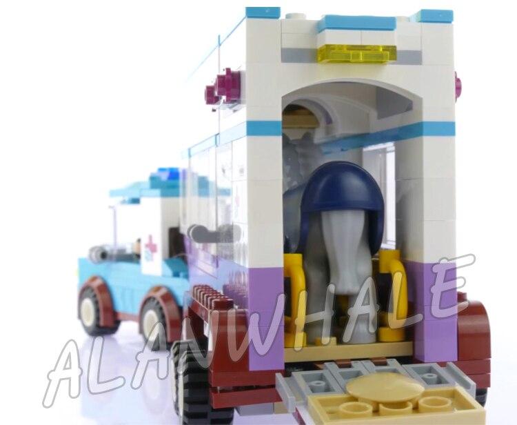 387 шт. Друзья серии Верховая vet трейлер всадников грузовых автомобилей 10561 модель строительные блоки собрать подарки устанавливает Совмести...