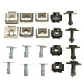 20PCs/Set Undertray Guard Engine Under Cover Fixing Clips & Screw KIT For AUDI A4 A6