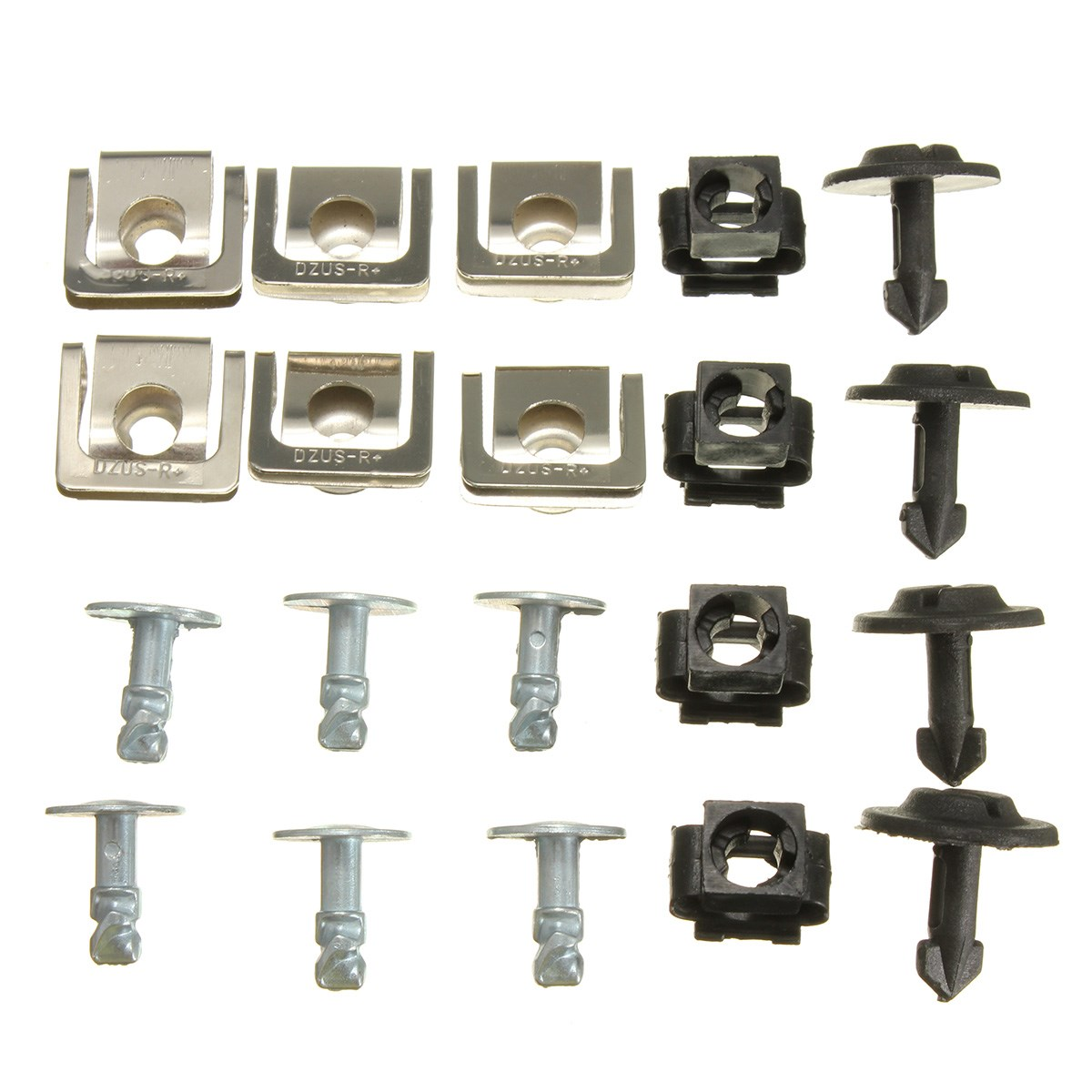Set undertray guard engine under cover fixing clips screw kit for audi a4 a6