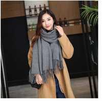Luxury Brand Winter Warm Pashmina Scarf Designer Pure Shawls Imitation Cashmere Scarves For Women Tassel Long