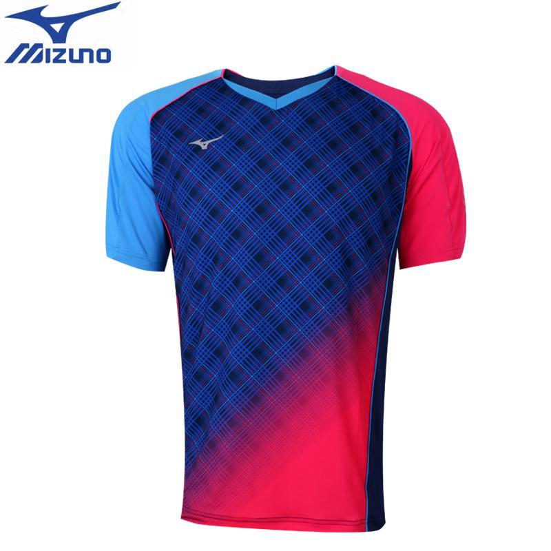 MIZUNO table tennis shirts  Badminton Shirts Tennis Jersey quick dry Clothes breathable short sleeve T shirts 82CT7508