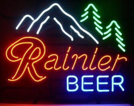 Custom Rainier Light Neon Light Sign Beer Bar