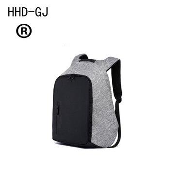 HHD-GJ Hidden Pocket Functional Backpack USB Charge Business Backpack Mochila Travel Backpack Anti-theft College LuggageBackpack