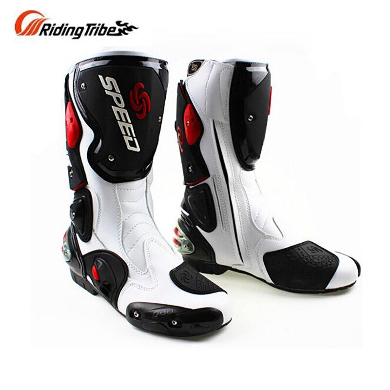 Männer der motorrad Mikrofaser leder stiefel DIRT BIKE Stiefel SPEED Racing motorrad Boot BOTA Motocross stiefel B1001 GRÖßE: 40-45