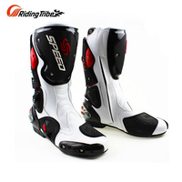 Men's motorcycle Microfiber leather boots DIRT BIKE Boots SPEED Racing motorbike Boot BOTA Motocross boots B1001 SIZE:40 45