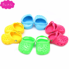 18 inch Girls doll shoes casual beach shoe sandals American newborn shoes Baby toys fit 43 cm baby dolls s33-s36 18 inch girls doll shoes winter woolen slippers casual shoe american newborn accessories baby toys fit 43 cm baby dolls s129