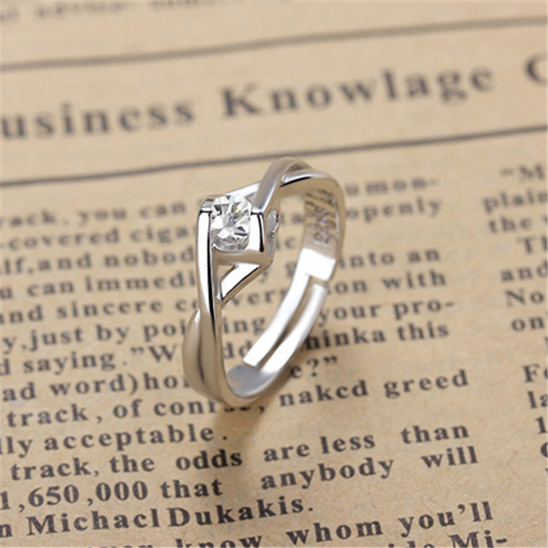 US $3 99  Free package mail selling heart shaped cubic zirconia female  money opening ring-in Rings from Jewelry & Accessories on Aliexpress com  