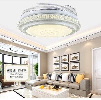 Светодиодный потолочный вентилятор 24 Вт-40 Вт, 36-дюймовый И 42-дюймовый мини-стиль для спальни столовой/кабинета 110-240 В