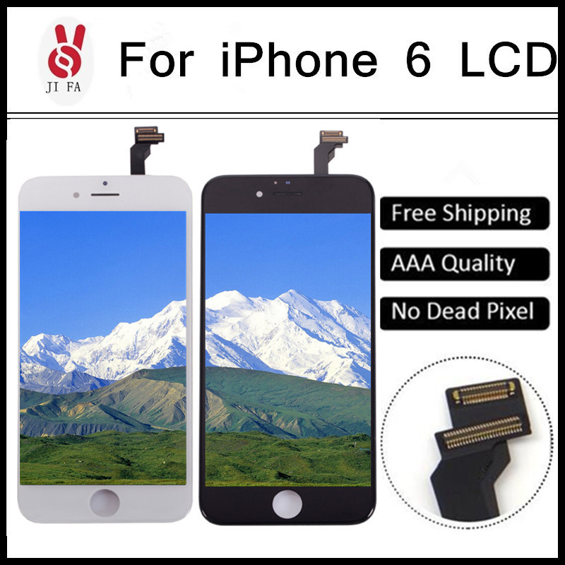 50PCS No Dead Pixel Grade AAA 4.7 inch LCD For iPhone 6 Display touch screen with digitizer assembly replacement parts Free DHL 5pcs lot grade aaa no dead pixel for iphone 6 plus lcd display with touch screen digitizer assembly black