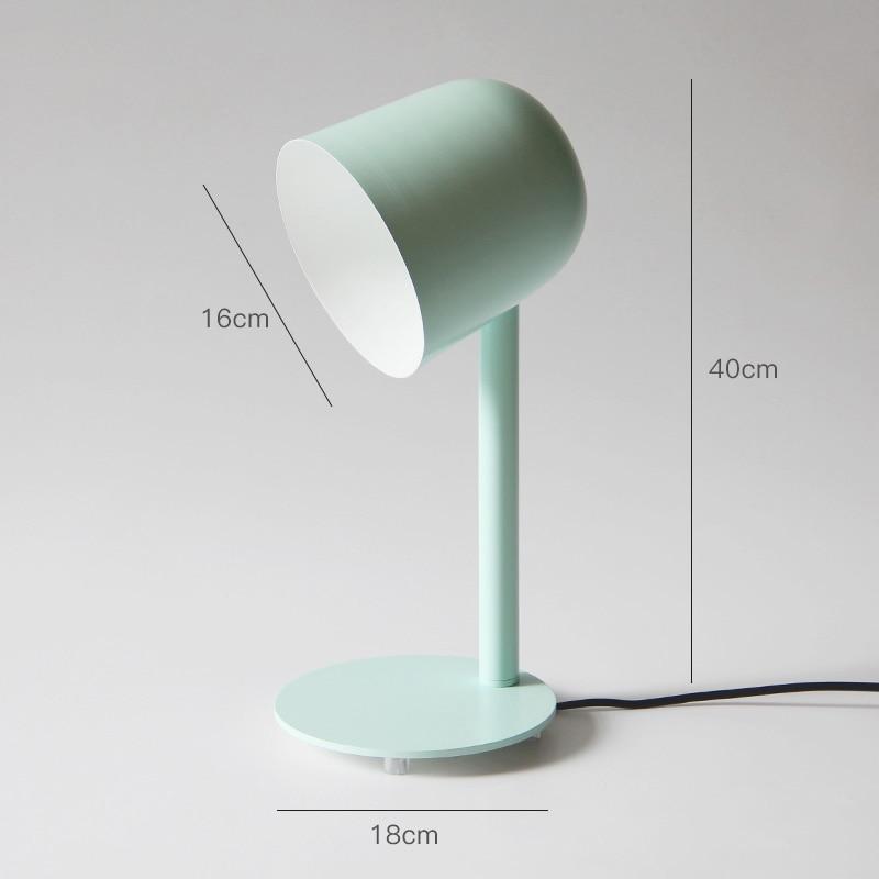 Einfache Nordic Flexible Schreibtisch Lampe Moderne Macaron Studie Lesen Licht Arbeit Tisch Lampe Kreative Persönlichkeit Büro Schreibtisch Lichter E27 - 3