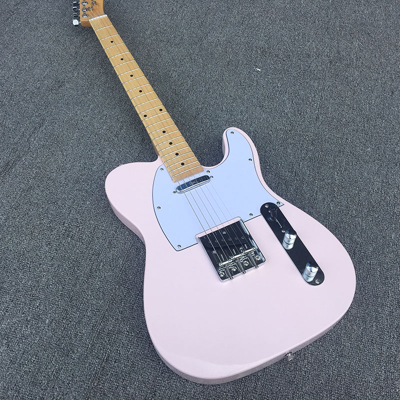 pink body electric guitar maple guitar neck high quality free shipping in guitar from sports. Black Bedroom Furniture Sets. Home Design Ideas