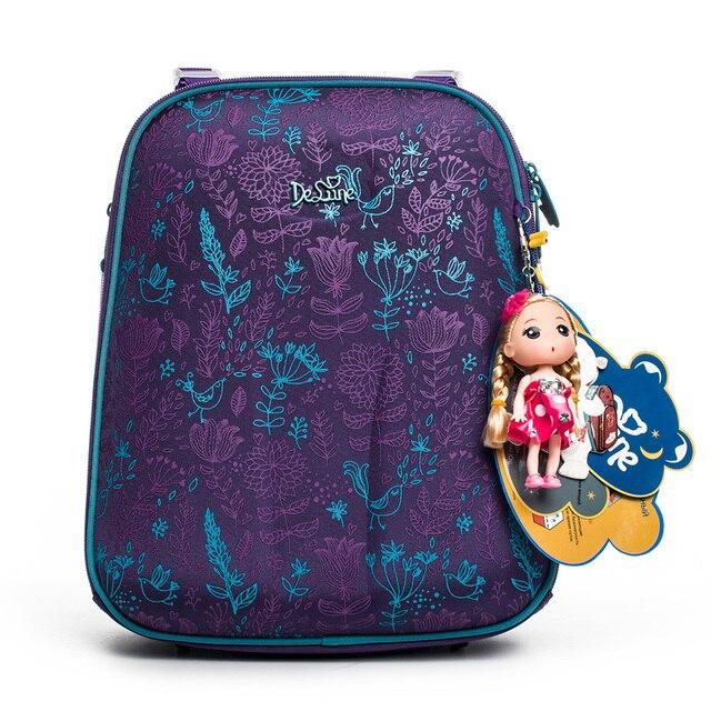 0daebafbd6 2018 Russia Famous Brand De lune 3D cartoon children school bags for girls  Orthopedic backpack Primary